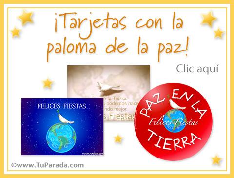 Tarjetas de Paloma de la paz