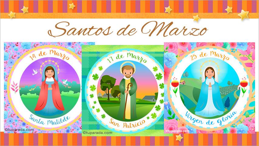 Tarjetas de  Santos de Marzo
