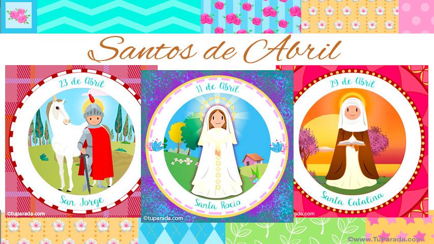 Tarjetas de  Santos de Abril