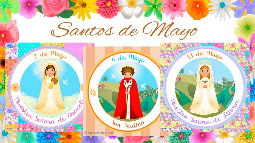 Tarjetas de  Santos de Mayo