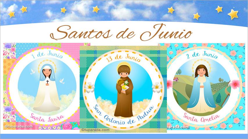 Tarjetas de  Santos de Junio