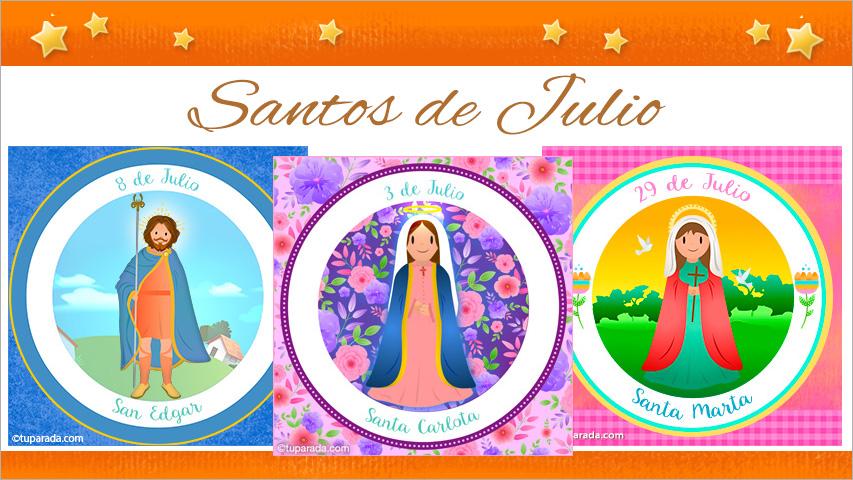 Tarjetas de  Santos de Julio
