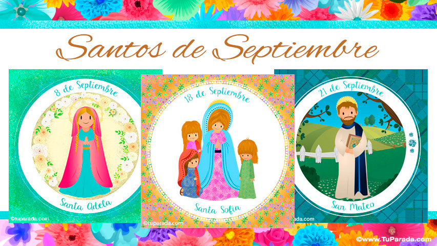 Tarjetas de  Santos de Septiembre