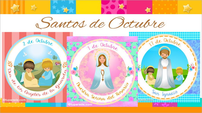 Tarjetas de  Santos de Octubre