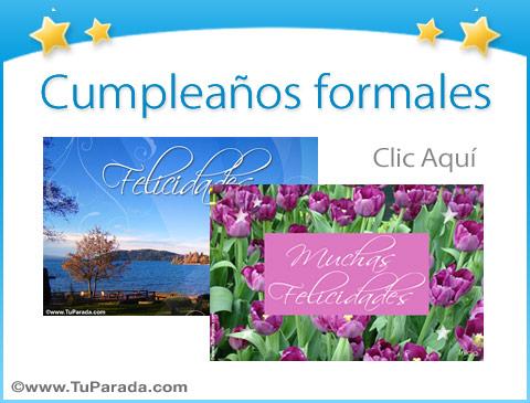 Tarjetas De Cumpleaños Formales Postales Para Cumpleaños Serias